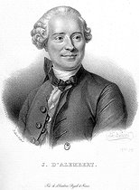 Jean Le Rond d'Alembert (1717-1783), French mathematician and philosopher. Lithograph by Delpech after Belliard, 1832. French National Library. © Neurdein/Roger-Viollet