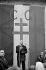 Charles de Gaulle (1890-1970), French statesman, making a speech. France, June 1965. © Roger-Viollet