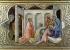 """Lorenzo Monaco (1370-1422). """"L'Adoration des Mages"""", détail du panneau du """"Couronnement de la Vierge, avec des saints et un ange"""", 1413. Florence (Italie), galerie des Offices. © Alinari/Roger-Viollet"""