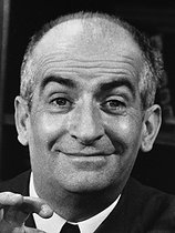 Louis de Funès, French actor, in a scene of film. © Roger-Viollet