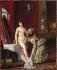 """Nicolas-René Jollain (1732-1804). """"La Toilette"""". Huile sur cuivre, vers 1780. Paris, musée Cognacq-Jay.  © Musée Cognacq-Jay/Roger-Viollet"""