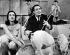 """Salvador Dalí (1904-1989) artiste-peintre surréaliste et sculpteur espagnol, avec Leslie Crane et plusieurs cochons préparant la mise en scène de son oeuvre intitulée """"Chaos et création"""". New York (Etats-Unis), 6 mars 1960. © TopFoto / Roger-Viollet"""
