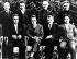Congrès de la VIIème Internationale communiste. Au premier rang de gauche à droite : Georgi Dimitrov (Bulgarie), Palmiro Togliatti (Italie), Wilhelm Florin (Allemagne), Van Minh (Chine). Au second rang de gauche à droite : Otto Kuusinen (Finlande), Klement Gottwald (Tchécoslovaquie), Wilhelm Pieck (Allemagne) et Dmitri Manouïlski (URSS-Ukraine). Moscou (Russie), 1er août 1935. © Ullstein Bild / Roger-Viollet