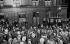 Crowd in front of the Café du Croissant, 146 rue Montmartre, after the assassination of Jean Jaurès. Paris, on July 31, 1914. © Albert Harlingue/Roger-Viollet