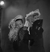 Hats designed by Albouy. Paris, January 1948. © Studio Lipnitzki/Roger-Viollet