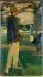 """Jacques-Emile Blanche (1861-1942). """"Jean Cocteau (1889-1963), écrivain, dans le jardin d'Offranville, 1913"""". Huile sur toile. Paris, musée Carnavalet.  © Musée Carnavalet / Roger-Viollet"""