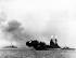 """Guerre 1939-1945. Opération Overlord. Le cuirassé britannique """"Rodney"""" bombardant les défenses d'Hitler afin de faciliter le débarquement des troupes alliées en Normandie. France, 6 juin 1944. © TopFoto / Roger-Viollet"""