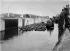 Canal de Panama. Ecluses de Miraflores. Flottille de dragage au travail. Chambre ouest. 24 octobre 1913. © Jacques Boyer / Roger-Viollet