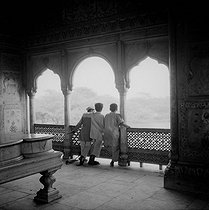 Interior of Agra Red Fort (17th century). Delhi (India). 1961. © Roger-Viollet