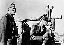 World War II Friedrich Paulus, German General, observing the Russian lines during the Russian lines during the battle of Stalingrad, before surrendering on January 31, 1943. © LAPI / Roger-Viollet