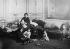 Large and needy family living at the Count de la Rochefoucauld's town house. Paris, 1913. © Roger-Viollet