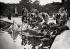 Enfants au Luxembourg. Course de bateaux sur le grand bassin. Paris, 1935.      © Collection Roger-Viollet/Roger-Viollet