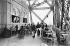 1900 World Fair in Paris. Restaurant on the first floor of the Eiffel Tower. © Neurdein / Roger-Viollet