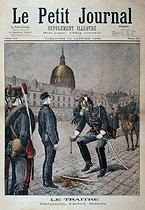 "Alfred Dreyfus demoted in rank at Ecole Militaire. Paris, January 5, 1895. ""Le Petit Journal"", January 13, 1895. © Roger-Viollet"