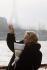 Jeanne Moreau (1928-2017), actrice et chanteuse française. Paris, janvier 1989. © Jean-Pierre Couderc / Roger-Viollet