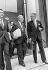 Jean-Pierre Fourcade (1929-), ministre de l'Economie et des finances avec Jean-Philippe Lecat et robert Boulin, 1974. © Jacques Cuinières / Roger-Viollet