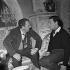"""L'Aventurière des Champs-Elysées"", film de Roger Blanc. Roger Blanc et Gamil Ratib. France, 20 janvier 1963.  © Alain Adler / Roger-Viollet"