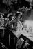 """Reportage sur les Folies Bergère. Danseuse et habilleuse dans la loge lors de la représentation de """"Une vraie folie"""". Photographie de Jacques Rouchon (1924-1981). Paris, 1952. © Jacques Rouchon / Roger-Viollet"""