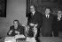 Jacques Chirac (né en 1932), maire de Paris, recevant Leonid Brejnev (1906-1982), secrétaire du PC soviétique, à l'hôtel de Ville. A droite : Andreï Gromyko et Christian Bonnet. Paris, juin 1977. © Jacques Cuinières / Roger-Viollet