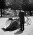 World War II. German occupation. Taxi bike. Paris, 1942. © Laure Albin Guillot / Roger-Viollet