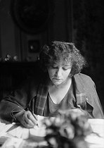 Colette (1873-1954), French writer, 1937. © Albert Harlingue/Roger-Viollet
