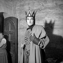 """Macbeth"" de Shakespeare. Jean Vilar. Festival d'Avignon, juillet 1954.   © Studio Lipnitzki/Roger-Viollet"