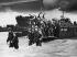 World War II. Normandy landings. US reinforcements landing from barges at Utah-Beach to deploy towards Cherbourg (France), June 1944. © Roger-Viollet