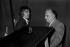 Serge Lama et Bruno Coquatrix. Paris, Olympia 1973.   © Patrick Ullmann / Roger-Viollet
