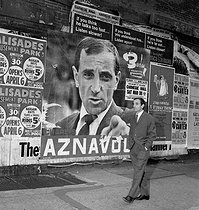 Charles Aznavour (1924-2018), Armenian-born French singer-songwriter and actor. New York (United States), March 1963. © Claude Poirier / Roger-Viollet