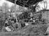Culture forcée des asperges, triage des plants. Ile de France, 1906. © Jacques Boyer/Roger-Viollet