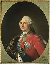 Antoine-François Callet's studio (1741-1823). Portrait of the King Louis XVI of France (1754-1793). An other version in the Versailles museum. Oil on canvas, 1786. Paris, musée Carnavalet. © Musée Carnavalet/Roger-Viollet