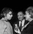 Joséphine Baker et Bruno Coquatrix pendant une interview. Paris, Olympia, avril 1964. © Studio Lipnitzki / Roger-Viollet
