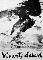 """Events of May-June 1968 in Paris. """"Vivants d'abord"""" (Living first). Lithograph by Zao Wou Ki (1920-2013). © Roger-Viollet"""