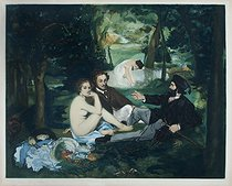 Jacques Villon (Duchamp Gaston, known as, 1875-1963). The luncheon on the grass, after Manet, 1929. Paris, musée d'Art moderne. © Musée d'Art Moderne / Roger-Viollet