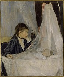 Berthe Morisot (1841-1895). The crib, circa 1872. Paris, musée d'Orsay.  © Roger-Viollet