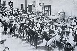 Emiliano Zapata (vers 1879-1919), révolutionnaire mexicain, avec son frère Eufemio (1873-1917) et ses partisans. © Iberfoto / Roger-Viollet