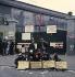 Evènements de mai-juin 1968. Occupation de l''usine Citroën par les ouvriers. Paris, mai 1968. Photographie de Georges Azenstarck (né en 1934). © Georges Azenstarck / Roger-Viollet