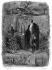 "François-René de Chateaubriand visiting Armand Carrel's grave, 1837. Illustration for ""Mémoires d'outre-tombe"" by François-René de Chateaubriand, Book XLIII, chapter 4. Engraving by F. Delannoy after R. Demoraine. © Roger-Viollet"