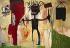 """Jean-Michel Basquiat (1960-1988). """"Autoportrait"""". Acrylique, 1986. Barcelone (Espagne), musée d'art contemporain. © Iberfoto / Roger-Viollet"""