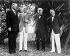 De gauche à droite : Herbert Hoover, Henry Ford, Thomas Edison et Harvey Firestone. Demeure de Thomas Edison, Fort Meyers (Floride, Etats-Unis), 11 février 1929. © TopFoto / Roger-Viollet