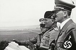 Le roi Victor-Emmanuel III, Benito Mussolini et Adolf Hitler observant des manoeuvres militaires à Furbara, près de Cerveteri, lors de la visite officielle d'Hitler en Italie en 1938. © Alinari / Roger-Viollet