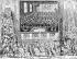 Louis XIV (1638-1715), roi de France, se rendant à Notre-Dame de Paris pour célébrer sa majorité. Septembre 1651. Gravure. B.N.F. © Roger-Viollet