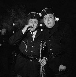 Gala de l'Union des Artistes, charity circus performed by artists. Raymond Devos (1922-2006), French humorist, and Pierre Doris (1919-2009), French actor. Paris, 1962. © Studio Lipnitzki / Roger-Viollet