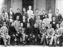 Eugenio Pacelli (1876-1958), future pope Pius XII (second from the right, second row), student at the Visconti high school. © Roger-Viollet