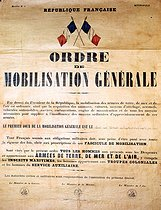 World War II. Public notice of mobilization, on September 2, 1939. © Roger-Viollet