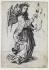 Martin Schongauer (1450-1491). Angel of the Annunciation - B1. Engraving. Musée des Beaux-Arts de le ville de Paris, Petit Palais. © Petit Palais/Roger-Viollet