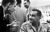 Gamal Abdel Nasser (1918-1970), Egyptian officer and statesman, at the Bandung Conference (Indonesia), April 1955. © Collection Roger-Viollet / Roger-Viollet