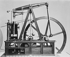 Machine rotative à vapeur à balancier de James Watt (1736-1819), ingénieur et mécanicien écossais. © Jacques Boyer / Roger-Viollet