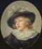 """Jean-Honoré Fragonard (1732-1806). """"Portrait de jeune homme avec un chapeau à plumes"""". Huile sur toile ovale, entre 1785 et 1788. Paris, musée Cognacq-Jay.    © Musée Cognacq-Jay / Roger-Viollet"""