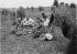 Harvesters having a meal. France, about 1900. © Roger-Viollet